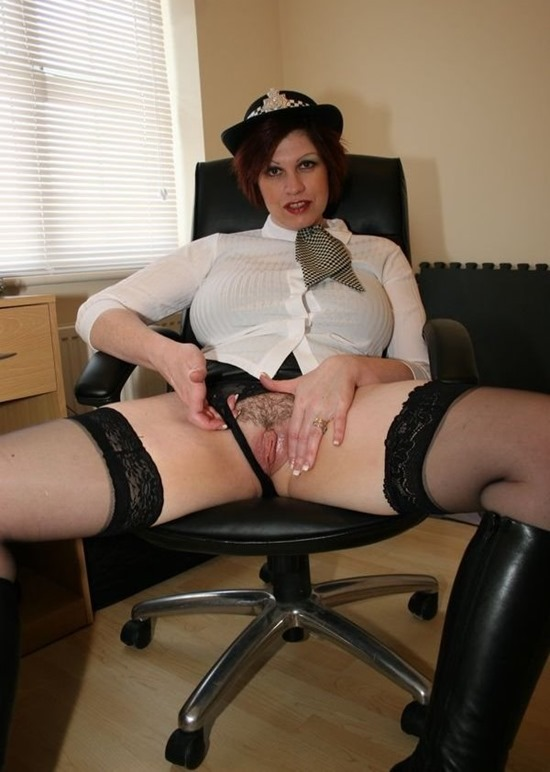 Mature Erotic Officer Trudi in action
